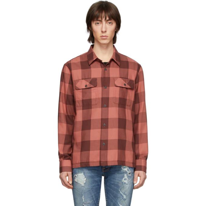 Nudie Jeans Chemise a carreaux rouge Block Sten