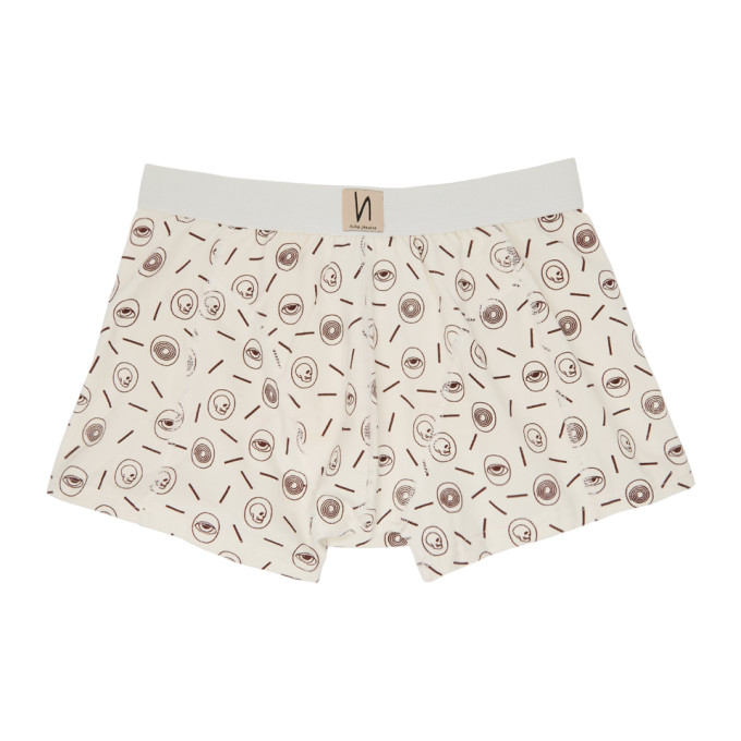 Nudie Jeans Boxer blanc casse Icons