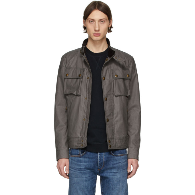 Image of Belstaff Grey Racemaster Jacket