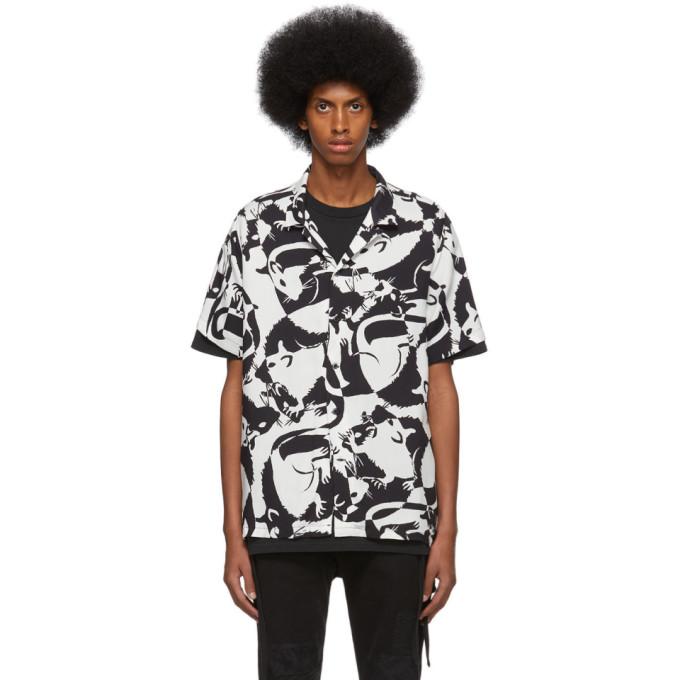 Ksubi Chemise noire et blanche Klub Rat