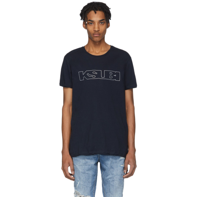 Ksubi Navy Sign Of The Times Unleaded T-Shirt