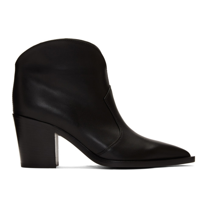 Buy Gianvito Rossi Black Leather Cowboy Boots online