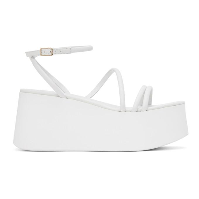Buy Gianvito Rossi White Bekah Platform Sandals online