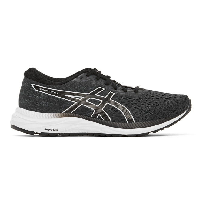 Asics ASICS BLACK AND WHITE GEL-EXCITE 7 4E SNEAKERS