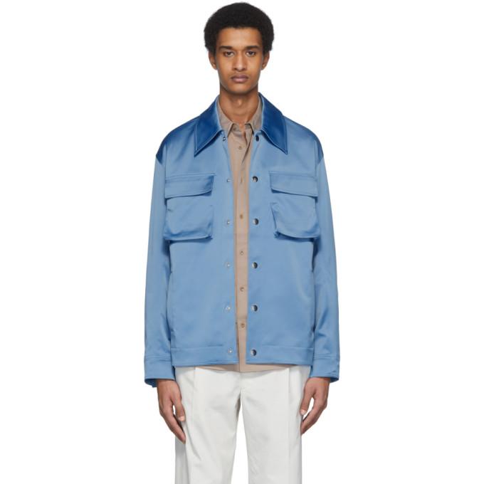Tibi Tibi Blue Duchesse Workmens Jacket