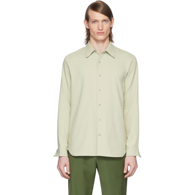 Tibi SSENSE 独家发售绿色 Chalky Drape 衬衫