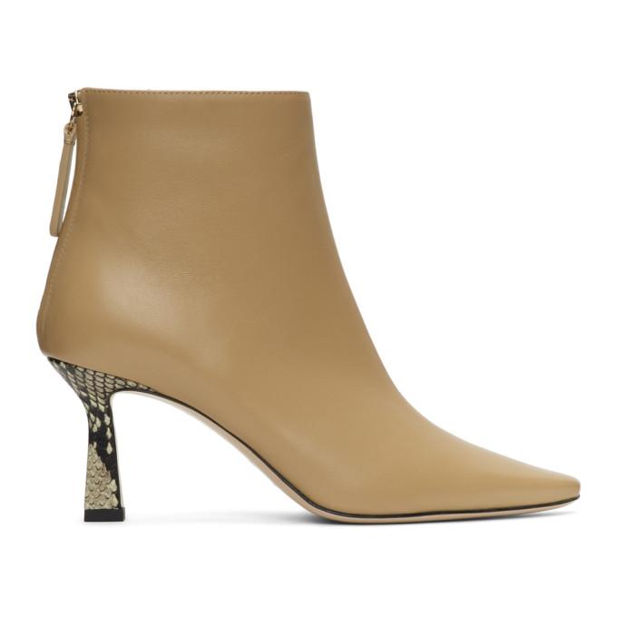 Buy Wandler Beige Lambskin Lina Boots online