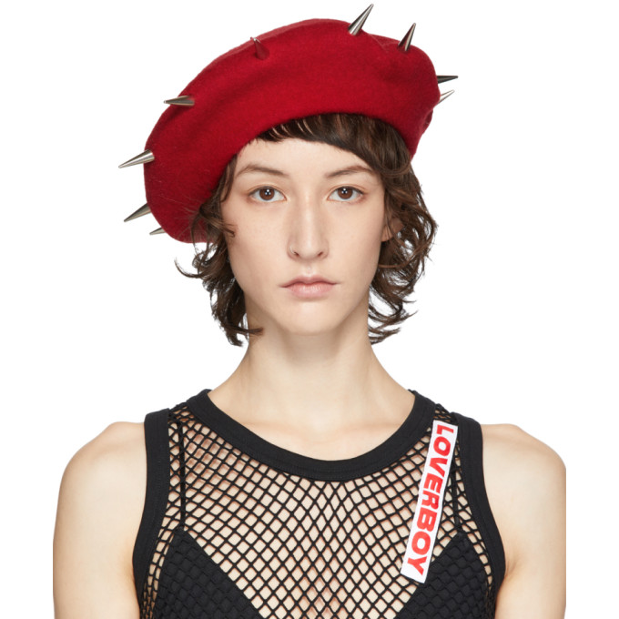 Charles Jeffrey Loverboy Beret cloute rouge