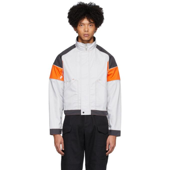 Affix Blouson gris et orange Work