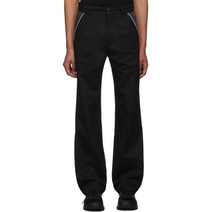 Affix Pantalon de survetement noir et gris exclusif a SSENSE