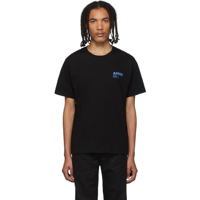 Affix T-shirt a logo noir exclusif a SSENSE