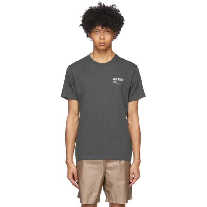 Affix T-shirt a logo gris Basic