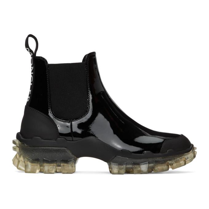 Buy Moncler Black Leather Hanya Boot online