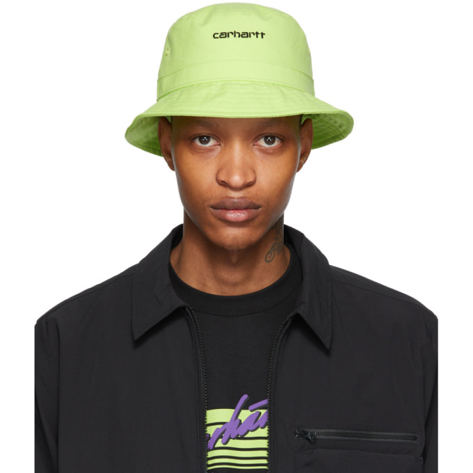 Carhartt Work In Progress Chapeau vert Logo Script
