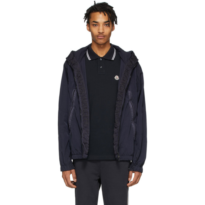 Moncler Moncler Black Windbreaker Jacket