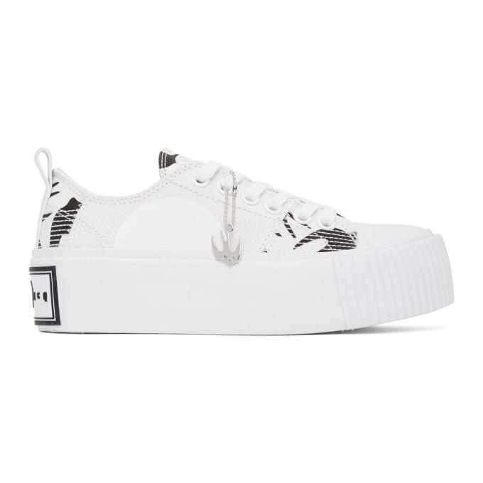Black Plimsoll Platform Low Sneakers