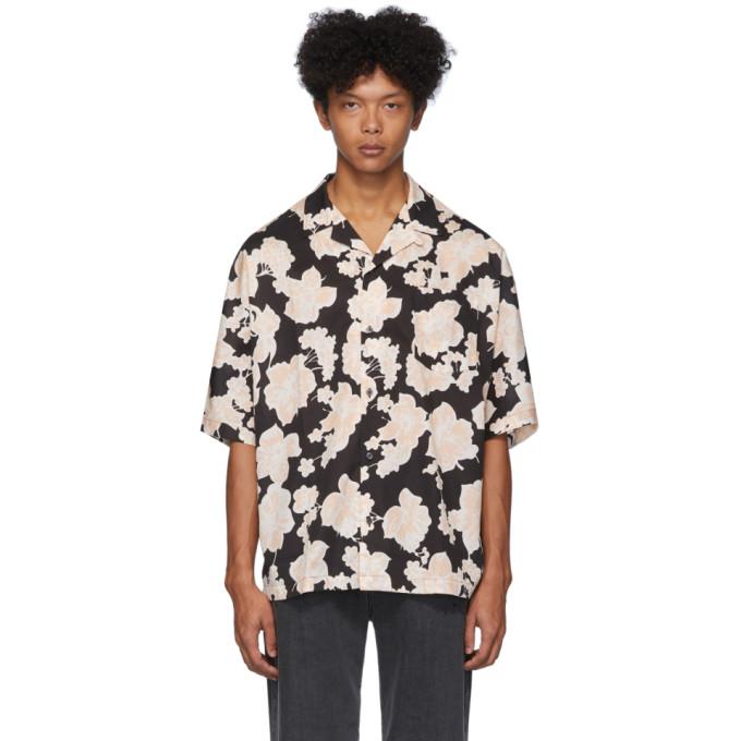 McQ Alexander McQueen Chemise a imprime noire et blanche Kimono