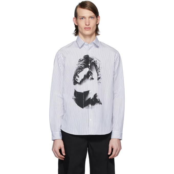 McQ Alexander McQueen Chemise blanche et noire Sheehan 20