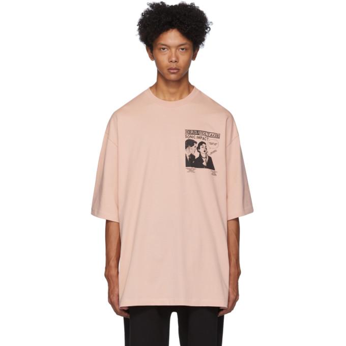 McQ Alexander McQueen Pink High Voltage Sonic Impact T-Shirt