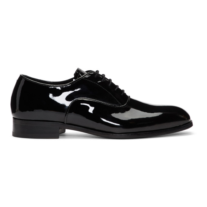 Tiger of Sweden Chaussures oxford en cuir verni noires Sinate