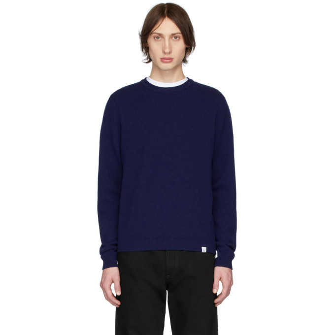 Norse Projects Pull en laine bleu Sigfred