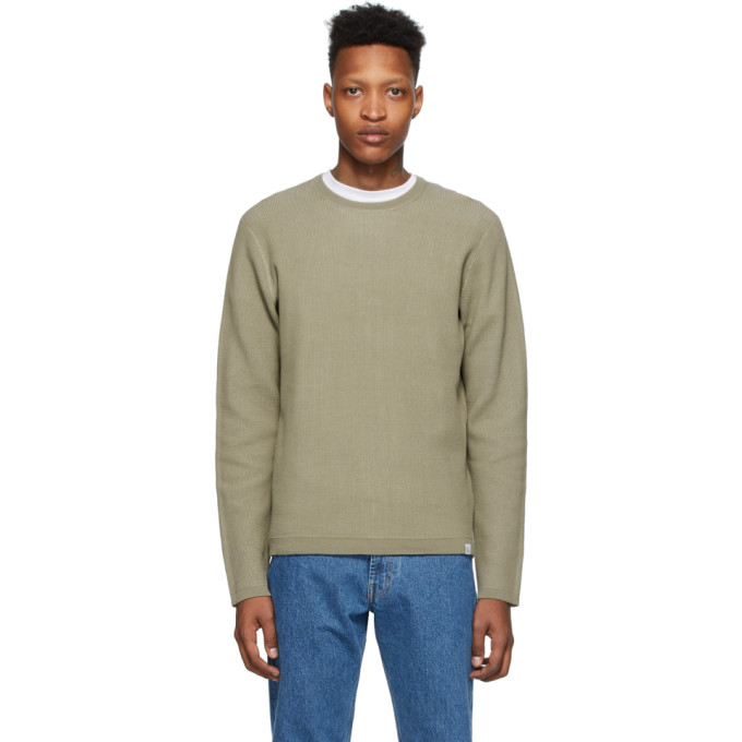 Norse Projects Pull en maille beige Air Raffo