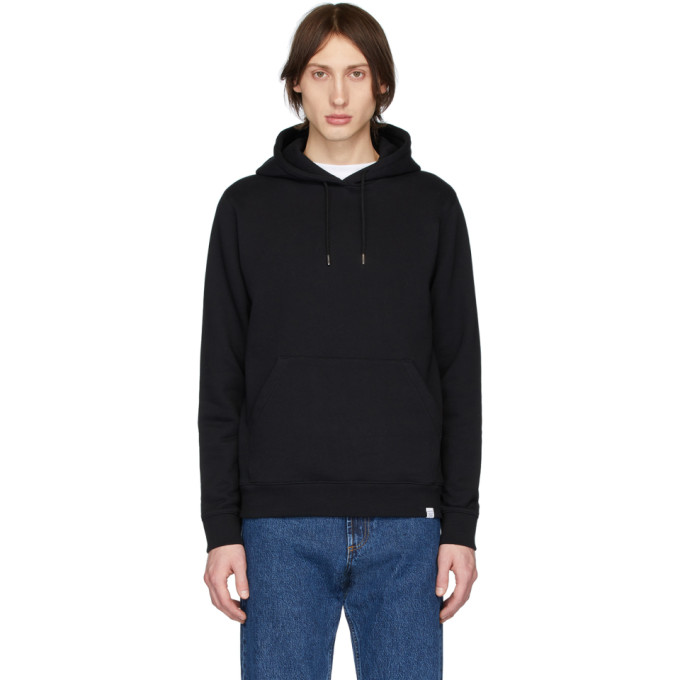 Norse Projects Pull a capuche noir Vagn Classic