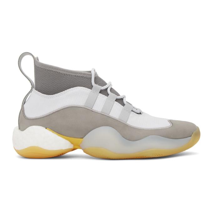 BED J.W. FORD Baskets montantes grises et blanches Crazy BYW edition adidas Originals