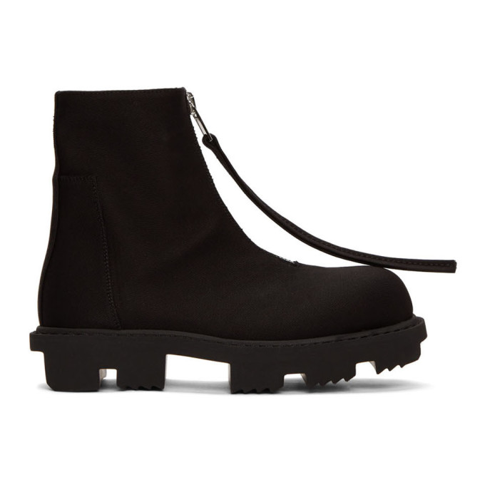Buy Rick Owens Drkshdw Black Megatooth Zip Boots online