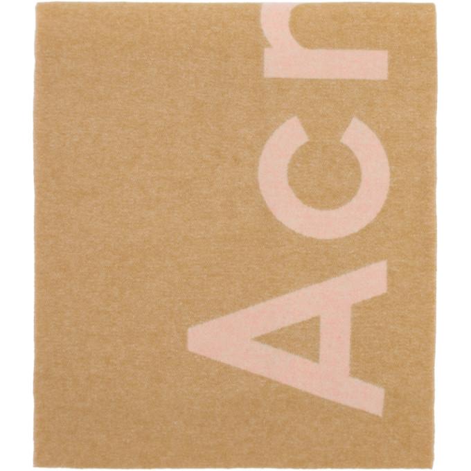 Acne Studios Foulard rose et beige Toronty