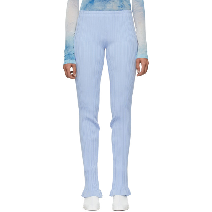 Acne Studios Blue Ribbed Lounge Pants In Ice Blue