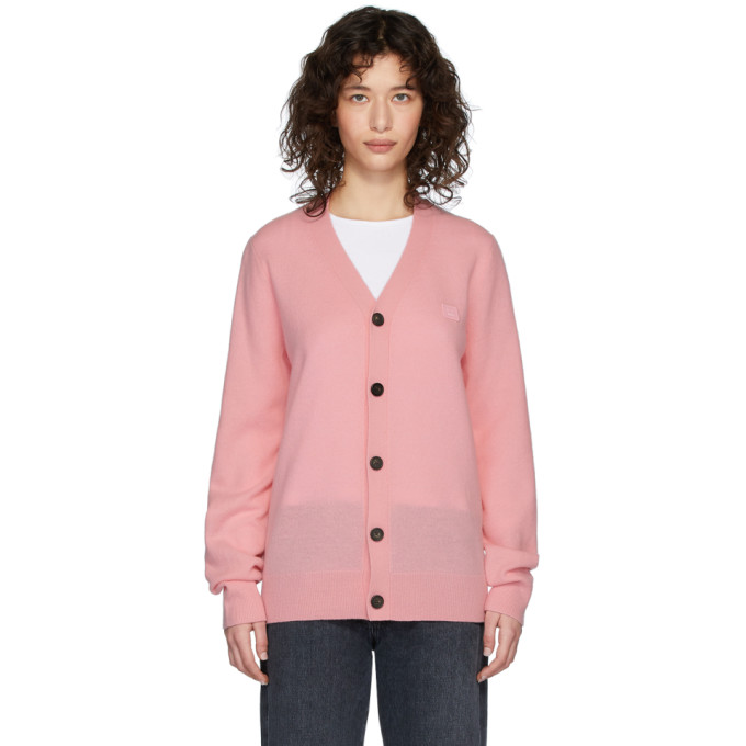 Acne Studios Pink Patch Cardigan  - buy with discount