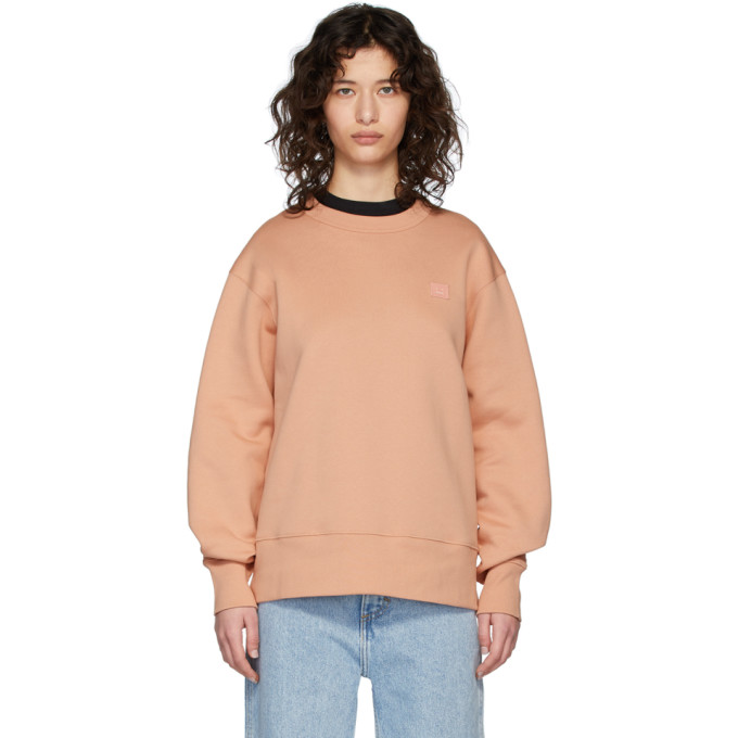 Acne Studios Pink Fairview Patch Sweatshirt In Pale Pink