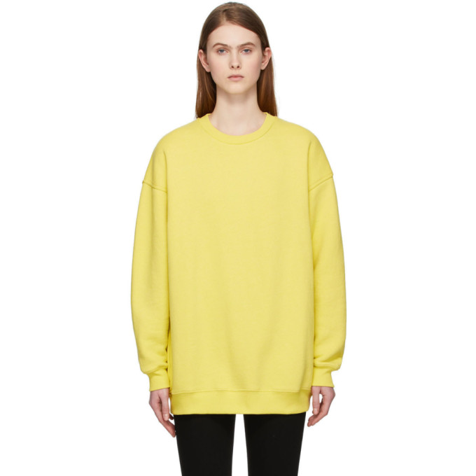 Acne Studios Inverted Label Sweatshirt In Canary Yellow