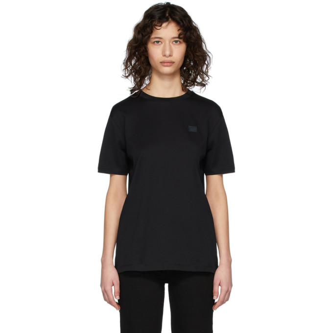 Acne Studios Nash Face Oversized Cotton-jersey T-shirt In Black