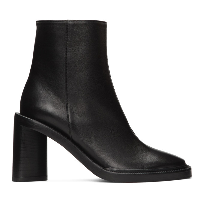 Buy Acne Studios Black Square Toe Boots online