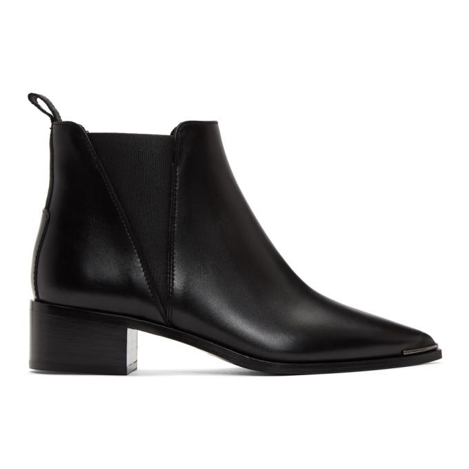 Buy Acne Studios Black Jensen Ankle Boots online