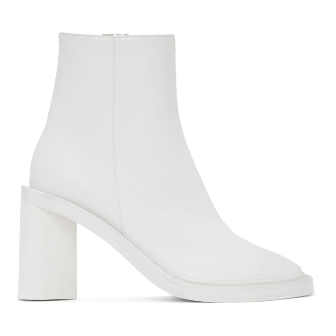 Buy Acne Studios White Square Toe Boots online