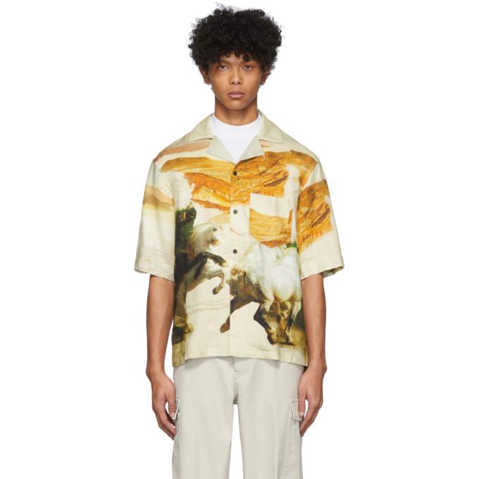 Acne Studios Shirts ACNE STUDIOS OFF-WHITE SIMON SHORT SLEEVE SHIRT