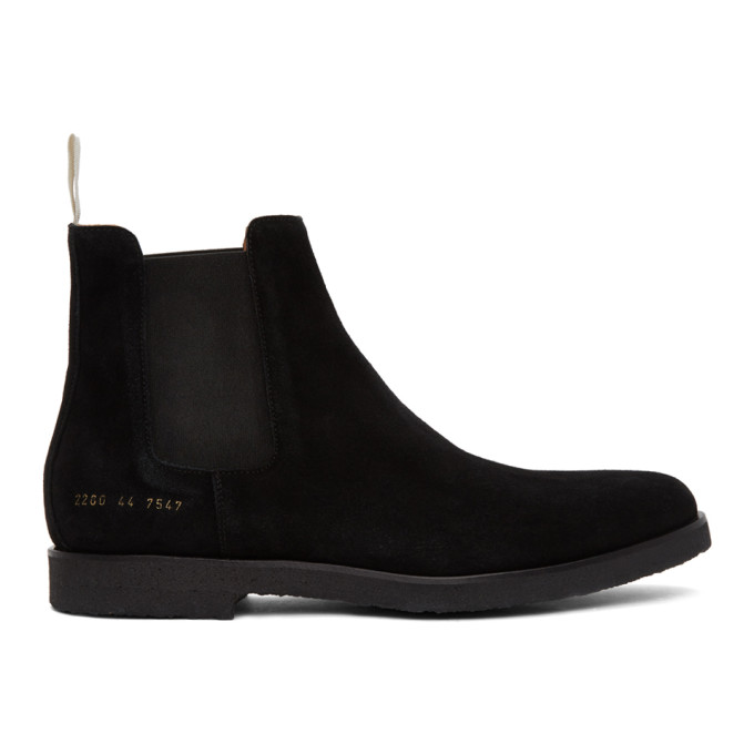 Common Projects Suede Chelsea Boots In