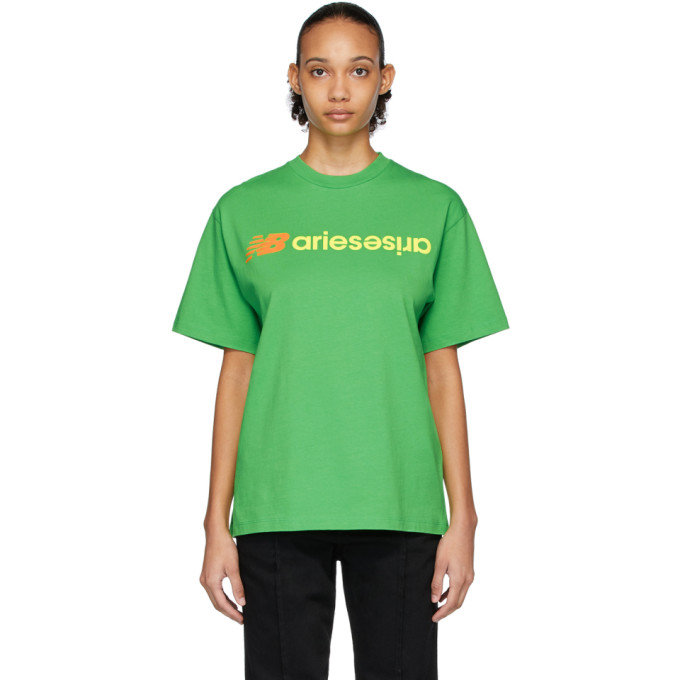 Aries T-shirt a logo vert edition New Balance
