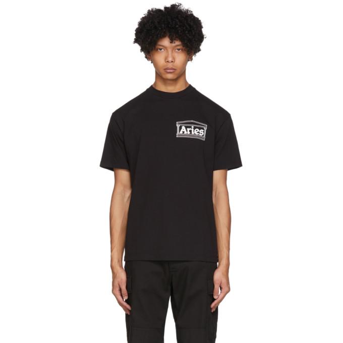 Aries T-shirt noir Skate