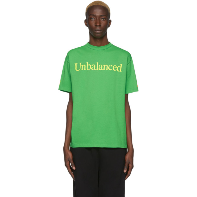 Aries T-shirt vert Unbalanced edition New Balance