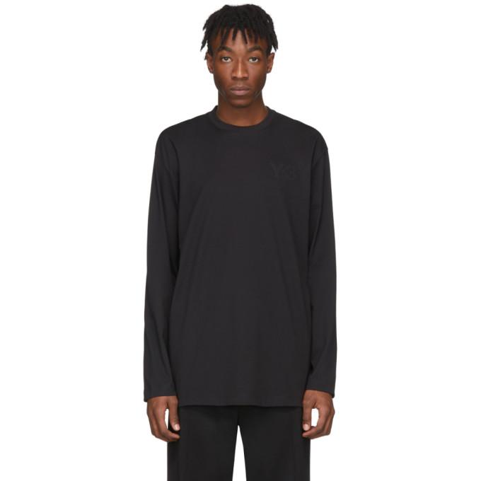 Y-3 T-shirt a manches longues et logo noir