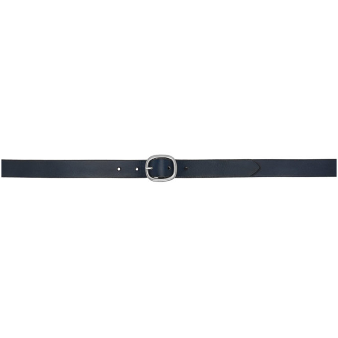 Maximum Henry Ceinture bleu marine Slim Oval