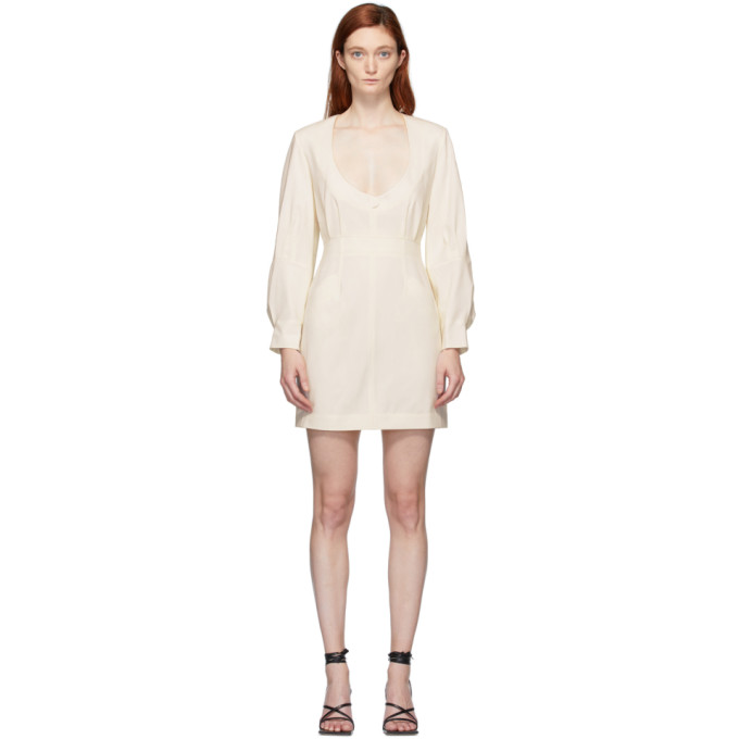 Situationist Robe en cuir blanche exclusive a SSENSE