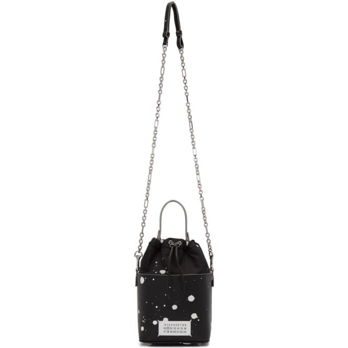 ブラック ペイント スプラッター 5AC バケット バッグ