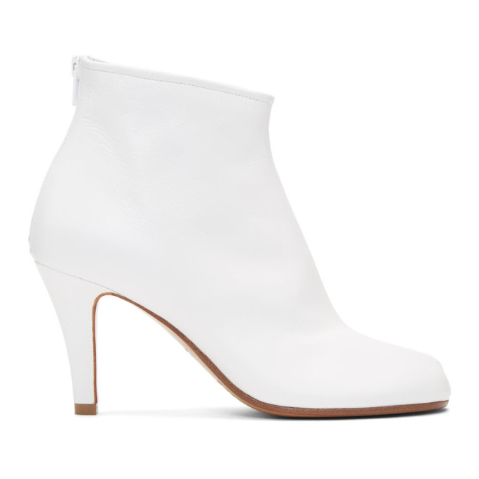Buy Maison Margiela White Stiletto Tabi Boots online