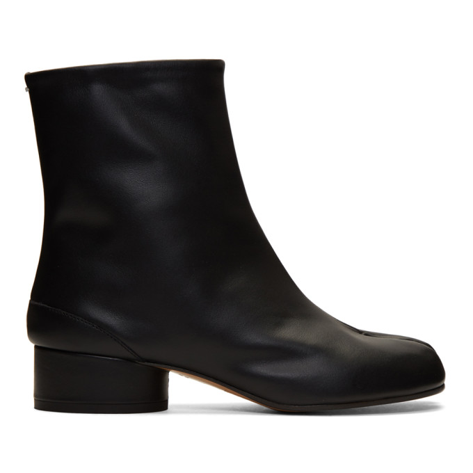 Buy Maison Margiela Black Low Heel Tabi Boots online