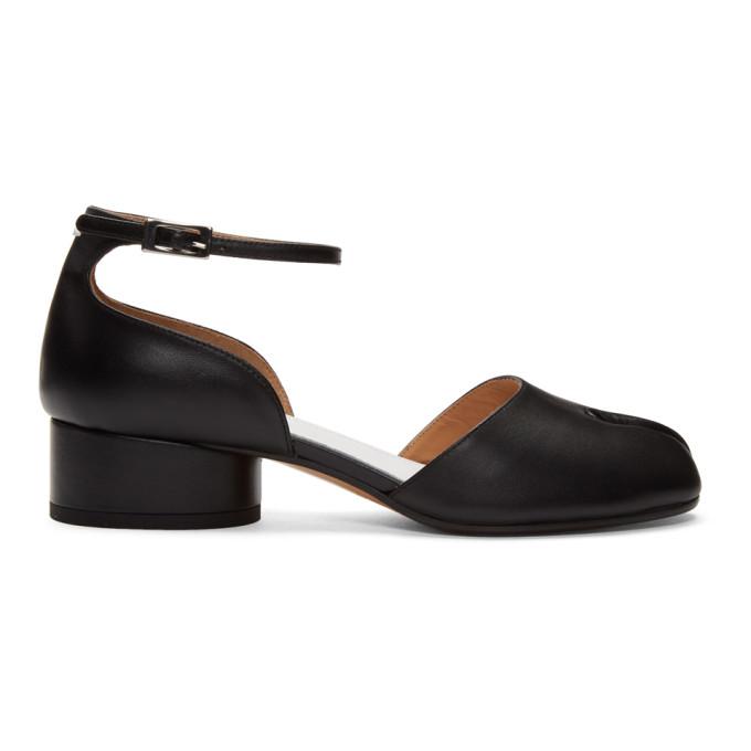 Buy Maison Margiela Black Tabi Ankle Strap Heels online